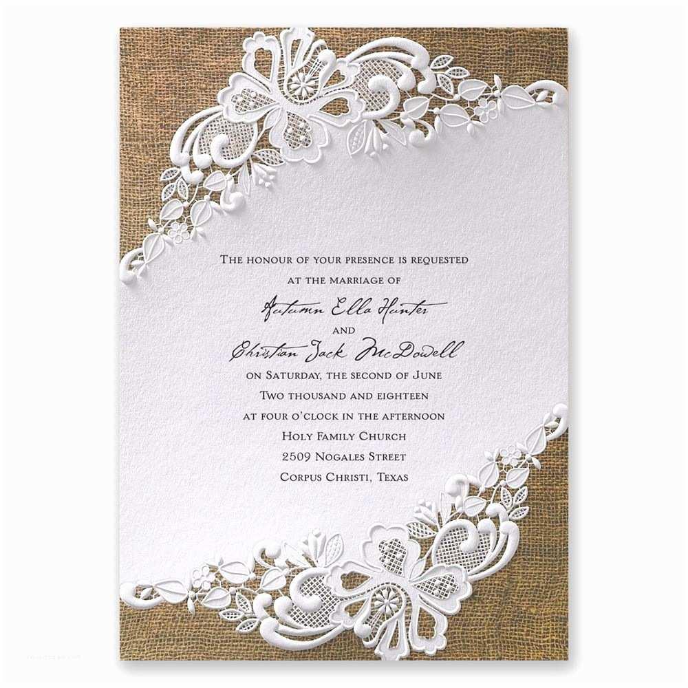 A Wedding Invitation Lacy Dream Invitation