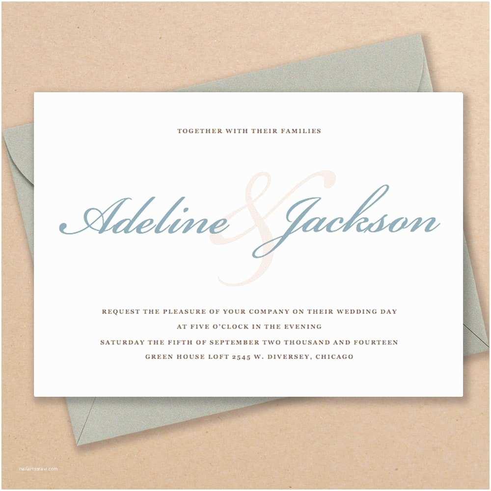 A Wedding Invitation Neutral Wedding Invitations Diy Wedding Invitations