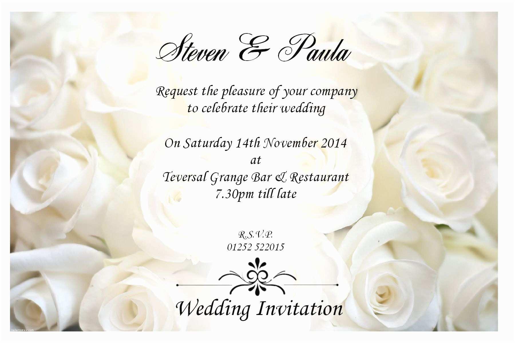 A Wedding Invitation Sample Wedding Invitation by Email