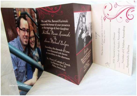 Accordion Wedding Invitations 21 Trifold Wedding Invitation Templates – Free Sample