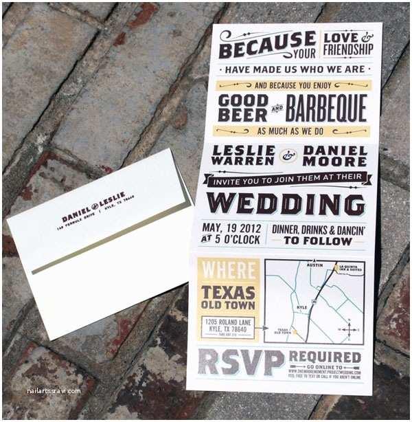 Accordion Wedding Invitations Accordion Fold Vintage Poster Style Wedding Invitations