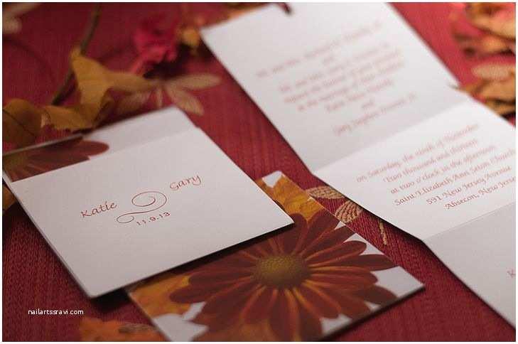 Accordion Wedding Invitations Gerbera Daisy Accordion Wedding Invitations