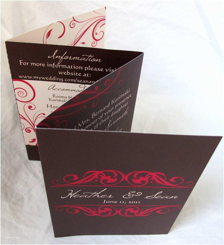 Accordion Wedding Invitations Heather & Sean Accordion Fold Wedding Invitation All In One
