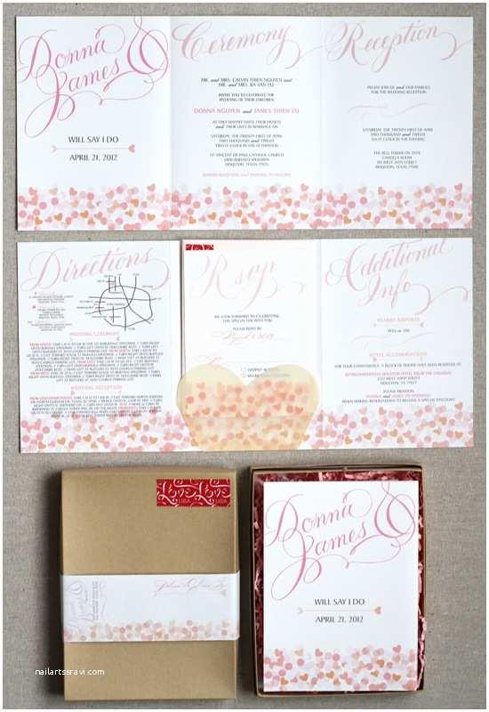 Accordion Wedding Invitations Invitations