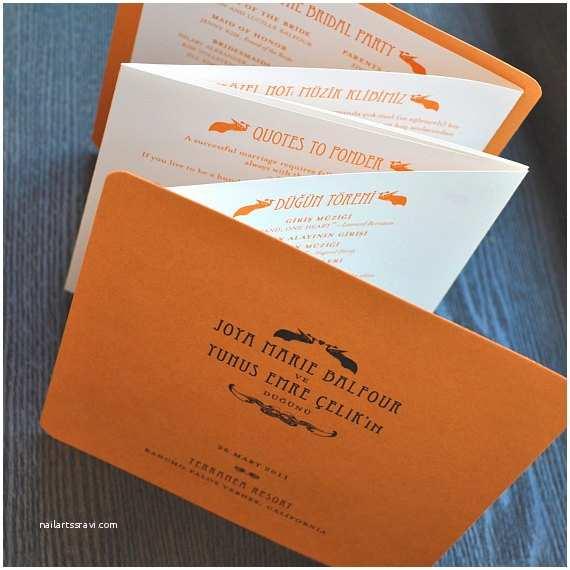Accordion Wedding Invitations Items Similar to Wedding Program Accordion Folded