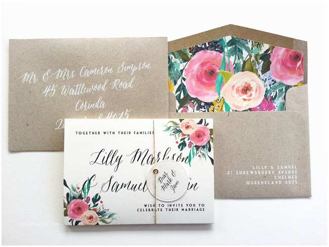 "Accordion Wedding Invitations ""lizzy"" Accordion Wedding Invitation"