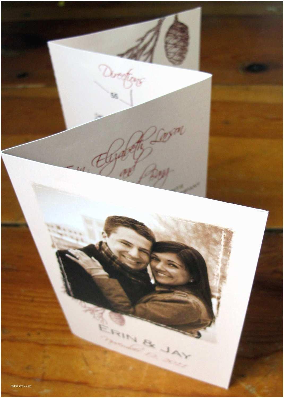 Accordion Wedding Invitations Wedding Invitations Accordion Fold Winter by Gwenmariedesigns