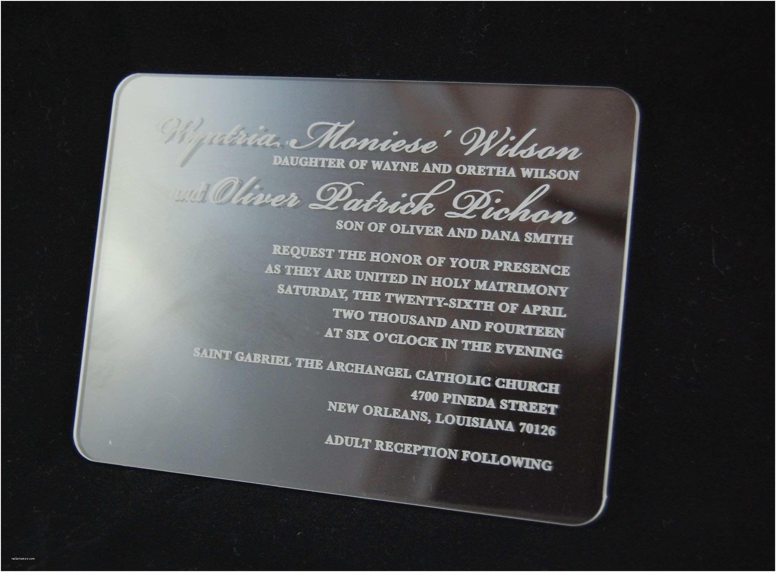 Acrylic Wedding Invitations Clear Acrylic Invitation Wedding Acrylic Invitation