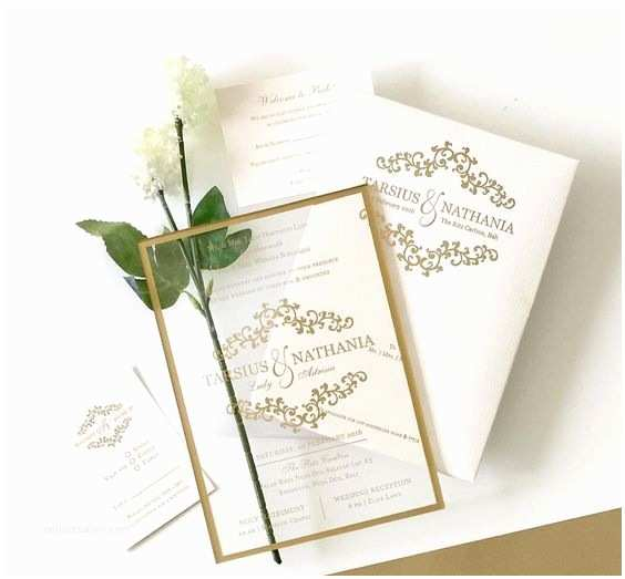 Acrylic Wedding Invitations with Box 2017 Wedding Trend 36 Edgy Acrylic Stationary Ideas