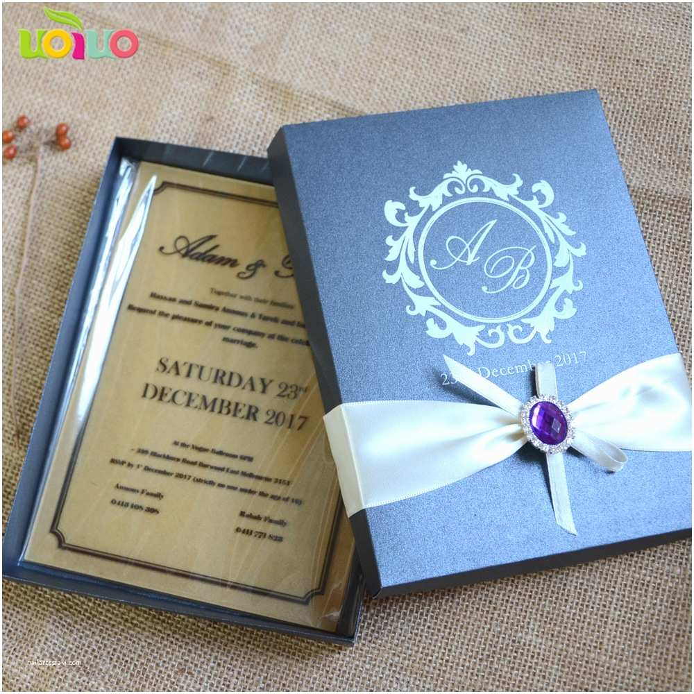 Acrylic Wedding Invitations with Box Acrylic Wedding Invitation Laser Cut Custom Wordings