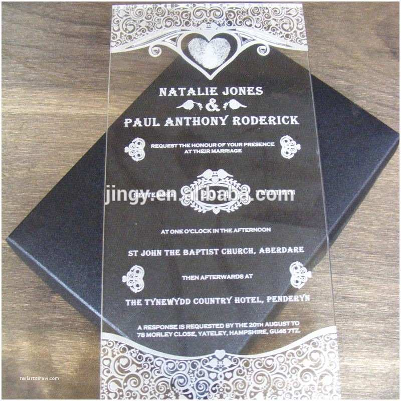 Acrylic Wedding Invitations with Box Custom Acrylic Wedding Invitation Card Box Buy Custom