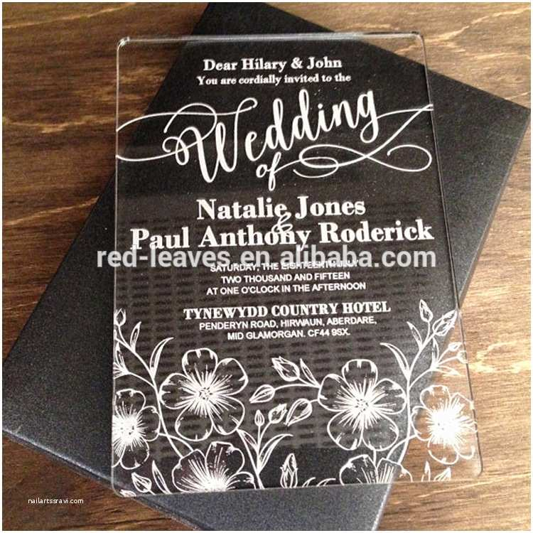 Acrylic Wedding Invitations with Box Luxury Wedding Jewellery Box Flower Acrylic Invitations