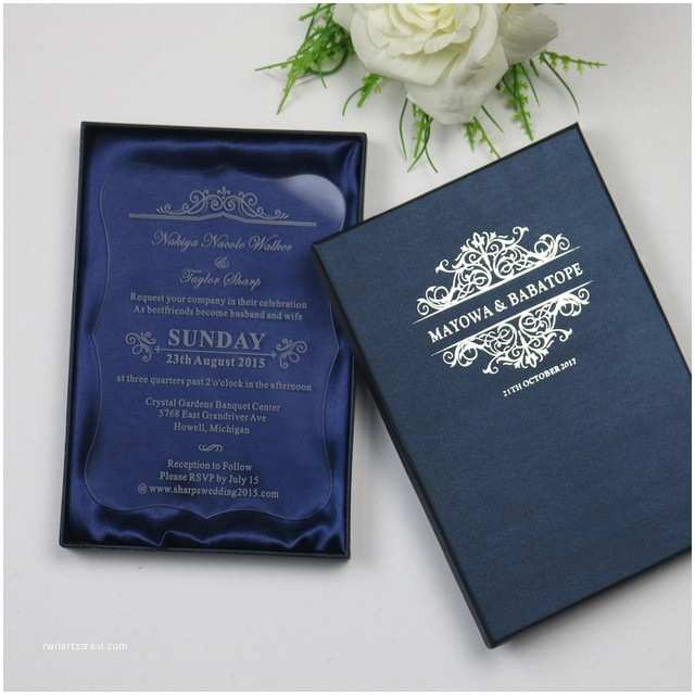 Acrylic Wedding Invitations with Box Personalized Luxury Customized Acrylic Wedding Invitation
