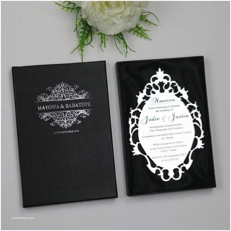 Acrylic Wedding Invitations with Box Sample Personalized Luxury Customized Acrylic Wedding