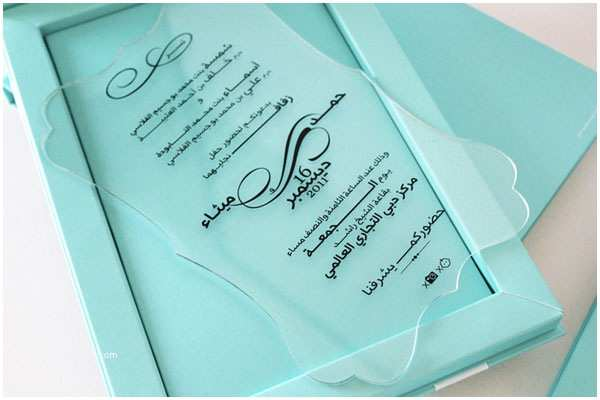Acrylic Wedding Invitations with Box Unique Tiffany Blue Keepsake Wedding Invitations