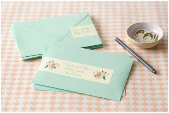 Address Labels for Wedding Invitations Create Custom Address Labels for Your Wedding Stationery