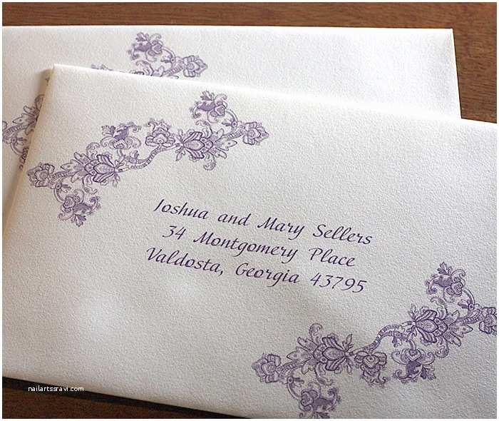 Address Labels for Wedding Invitations Custom Wedding Invitation Envelope Addressing