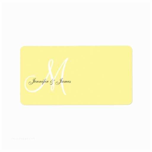 Address Labels for Wedding Invitations Monogram Wedding Invitation Address Labels Yellow