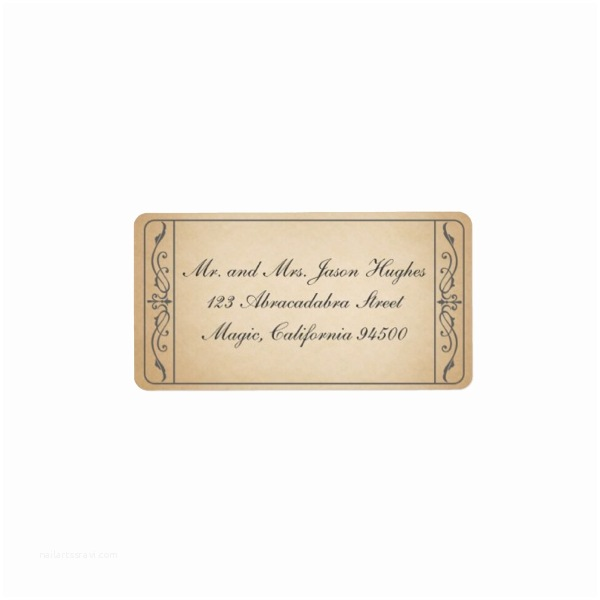 Address Labels for Wedding Invitations Vintage Ticket Wedding Rsvp Return Address Label Luxury