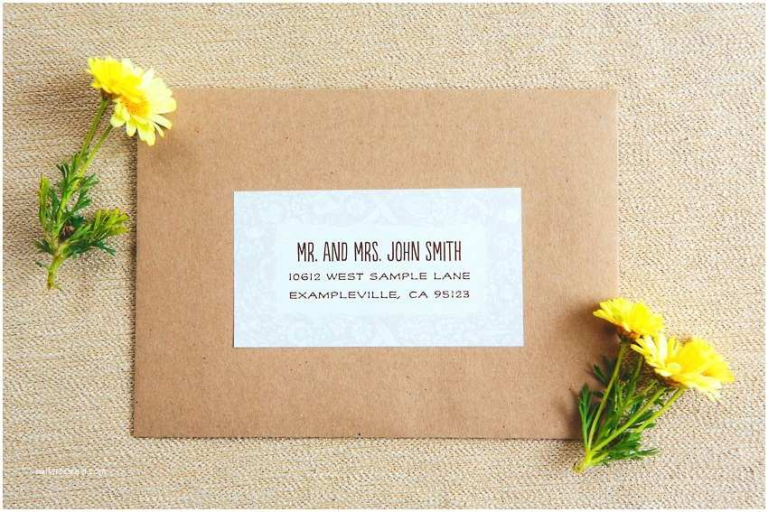Address Labels for Wedding Invitations Wedding Invitation Label