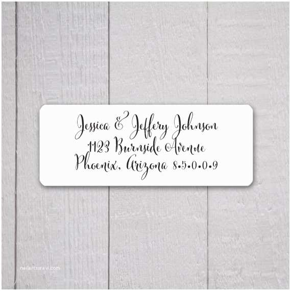 wedding invitation return address labels