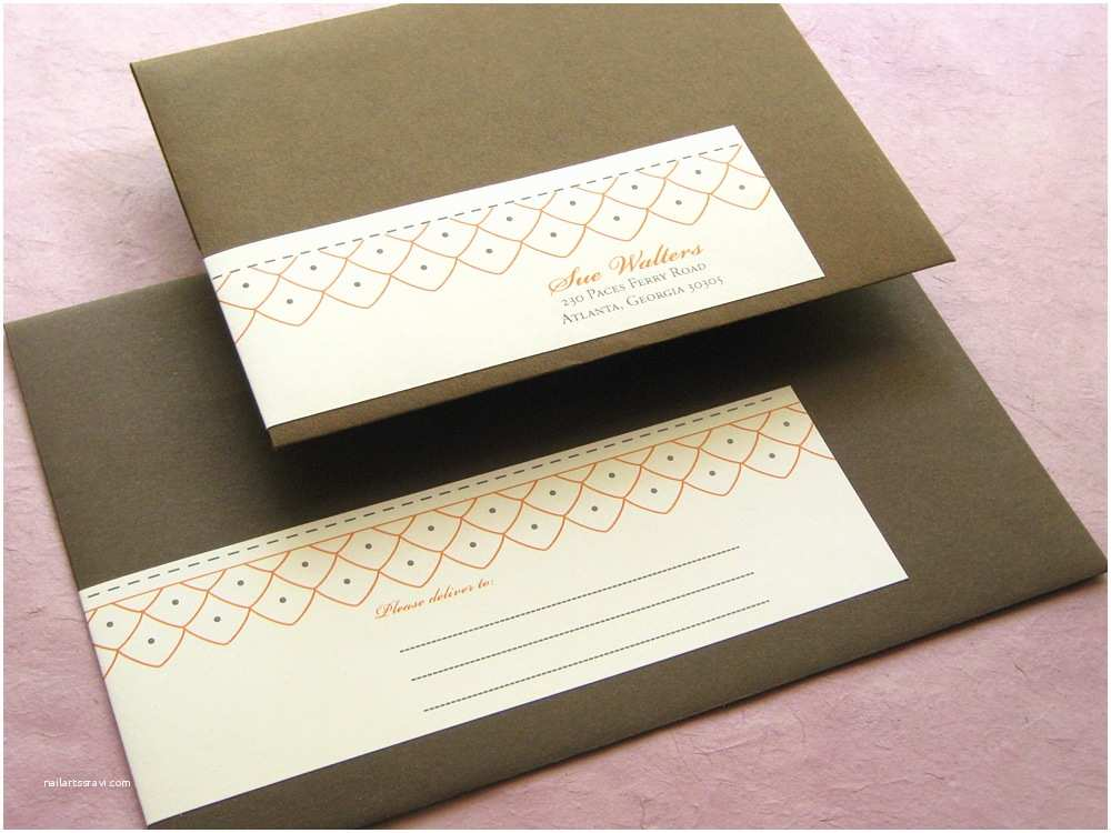 Address Labels for Wedding Invitations Wrap Around Labels for Wedding Invitations
