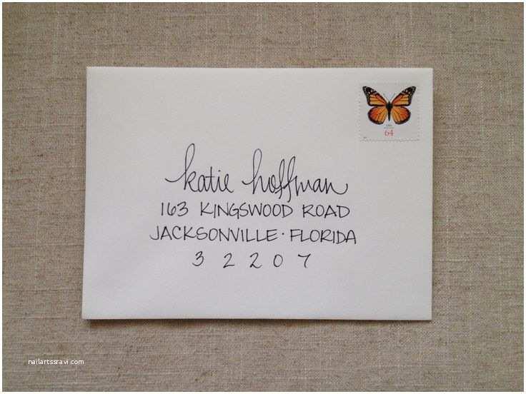 Addressing Wedding Invitation Envelopes Hand Addressed Envelope Lepen Bo