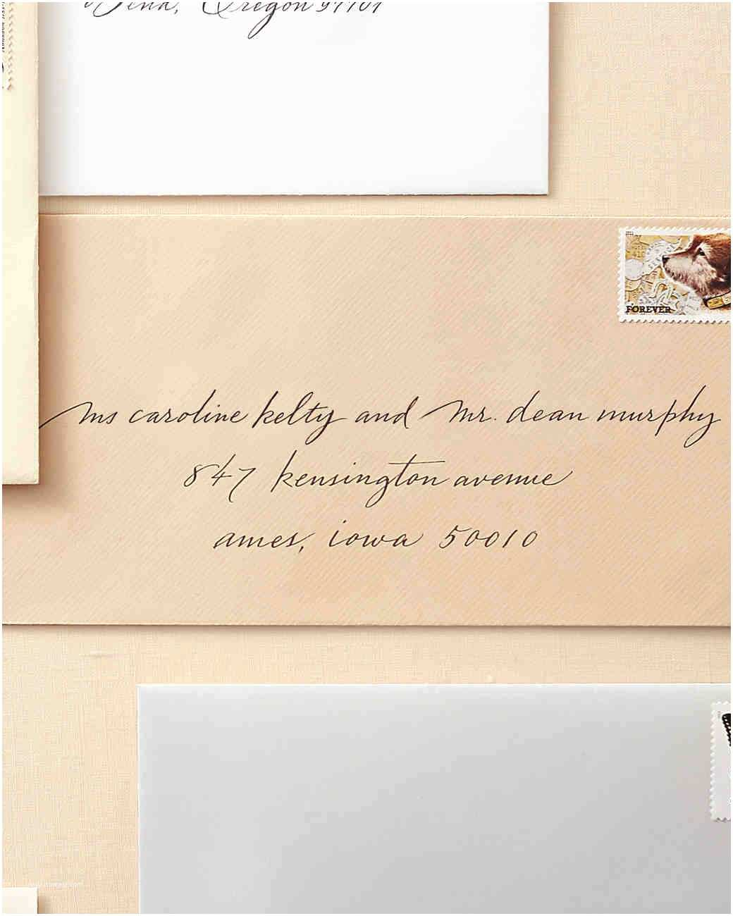 Addressing Wedding Invitation Envelopes How to Address Guests On Wedding Invitation Envelopes