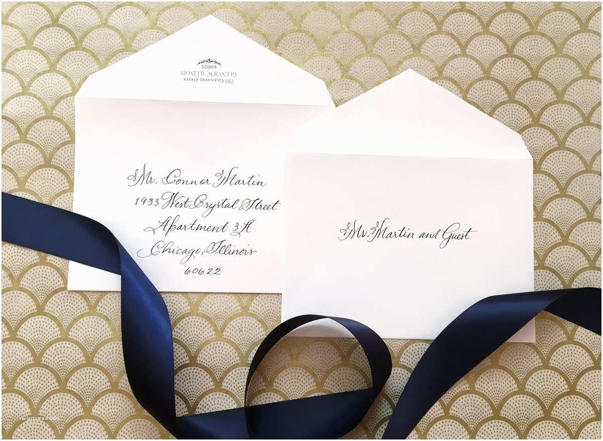 Addressing Wedding Invitation Envelopes How to Address Wedding Invitations without Inner Envelope