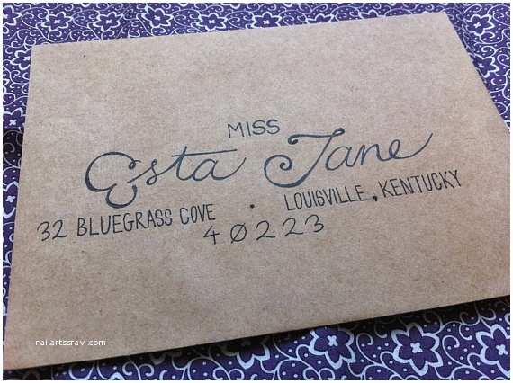 Addressing Wedding Invitation Envelopes Items Similar to Wedding Invitation Envelopes Hand Written