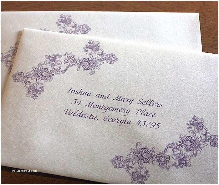 Addressing Wedding Invitation Envelopes Lace Custom Wedding Address Labels 700×590
