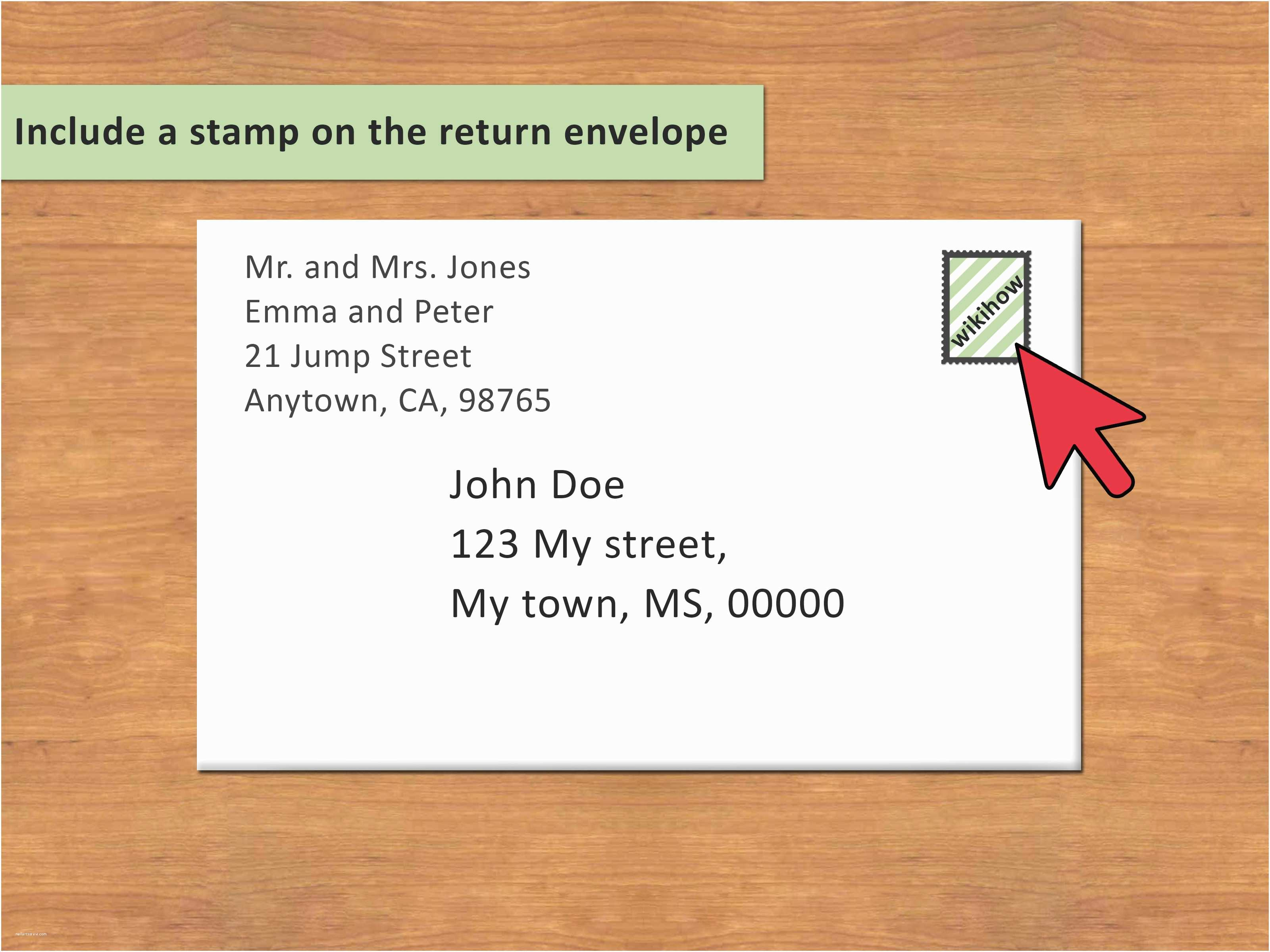Addressing Wedding Invitations to A Family 3 Ways to Address An Envelope to A Family Wikihow