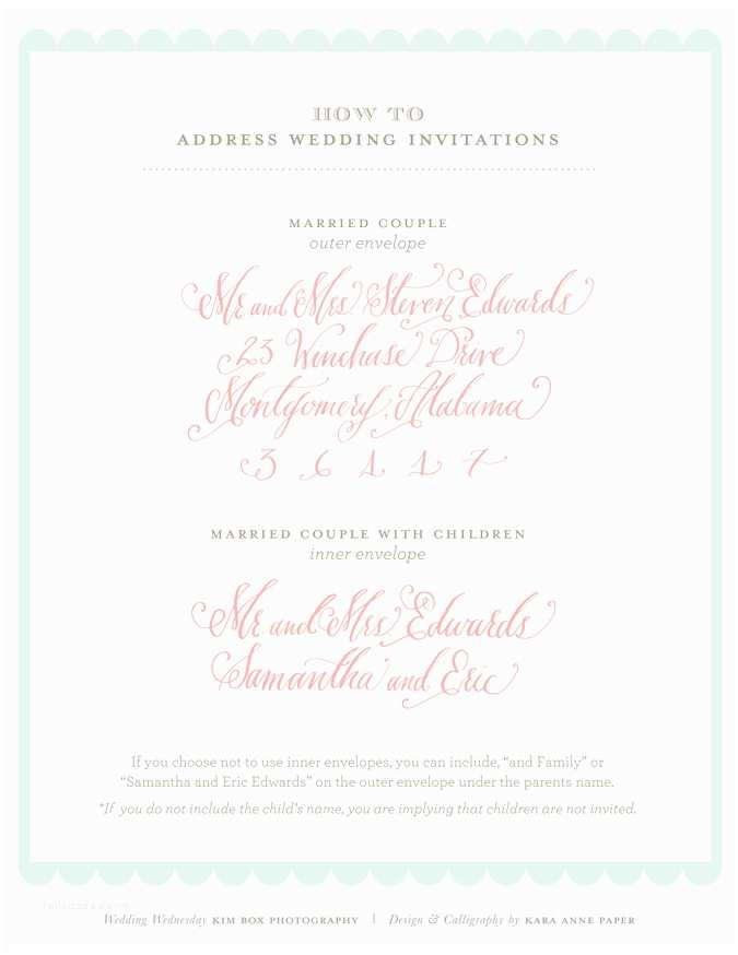 Addressing Wedding Invitations to A Family How to Address Wedding Invitations A Family with E Child
