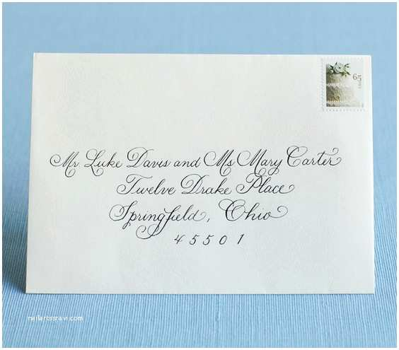 Addressing Wedding Invitations to A Family Unmarried Couple Living to Her