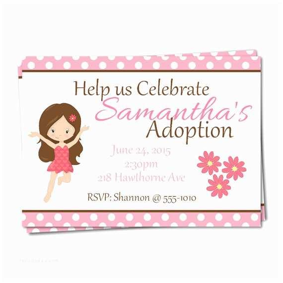 Adoption Party Invitations Fairy Adoption Party Invitations Adoption by