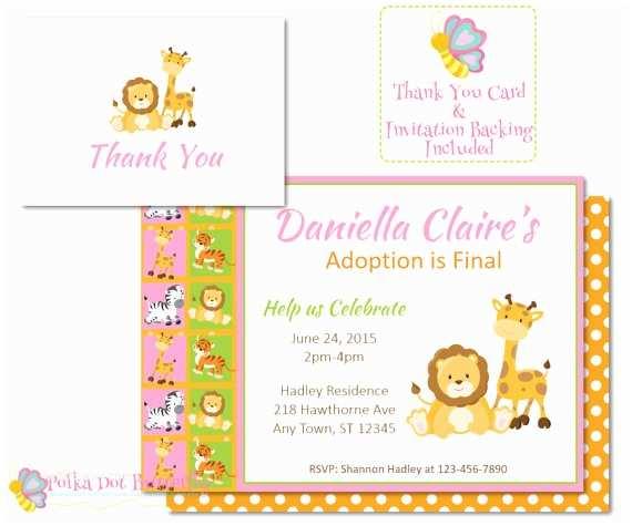 safari invitations adoption party