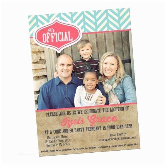 Adoption Party Invitations the 25 Best Adoption Announcements Ideas On Pinterest