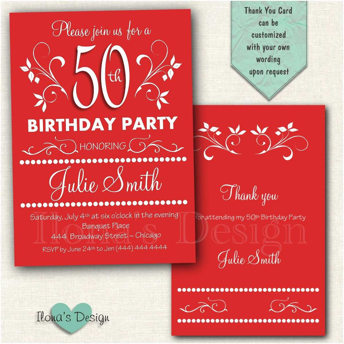 Adult Birthday Invitations 50th Adult Birthday Invitation Surprise Birthday Invitation