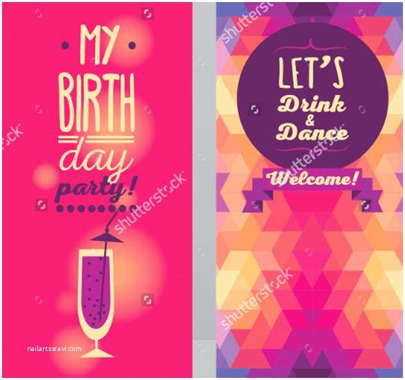 Adult Birthday Party Invitations Adult Birthday Invitation Template – 16 Free Psd Vector