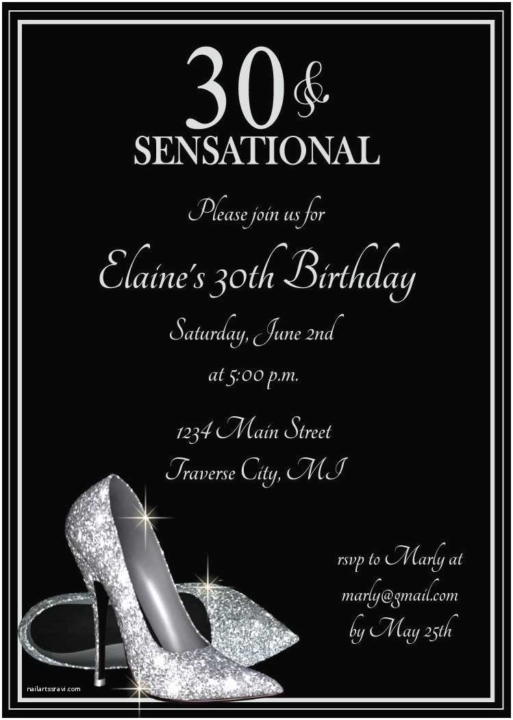 Adult Birthday Party Invitations Silver Glitter Shoes Adult Birthday Party Invitations