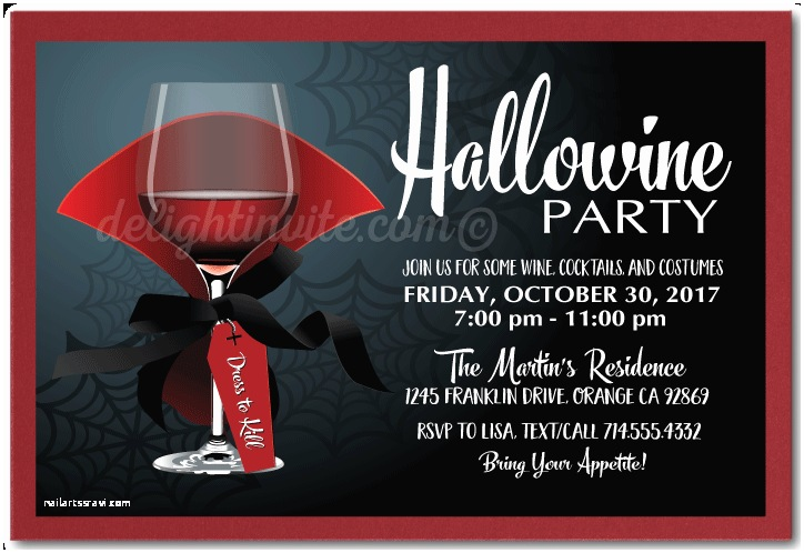 Adult Halloween Party Invitations Hallowine Adult Halloween Cocktail Party Invitations [di