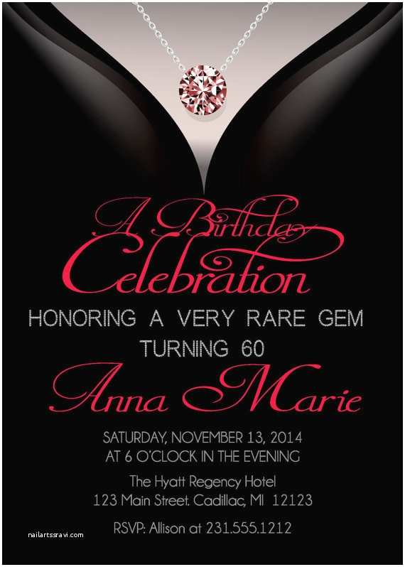 Adult Party Invitations 60th Birthday Invitations Adult Birthday Invitation
