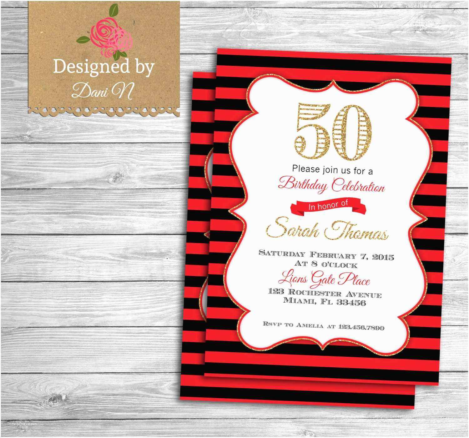 Adult Party Invitations Adult Birthday Invitation 50th Birthday Invite Adult Party