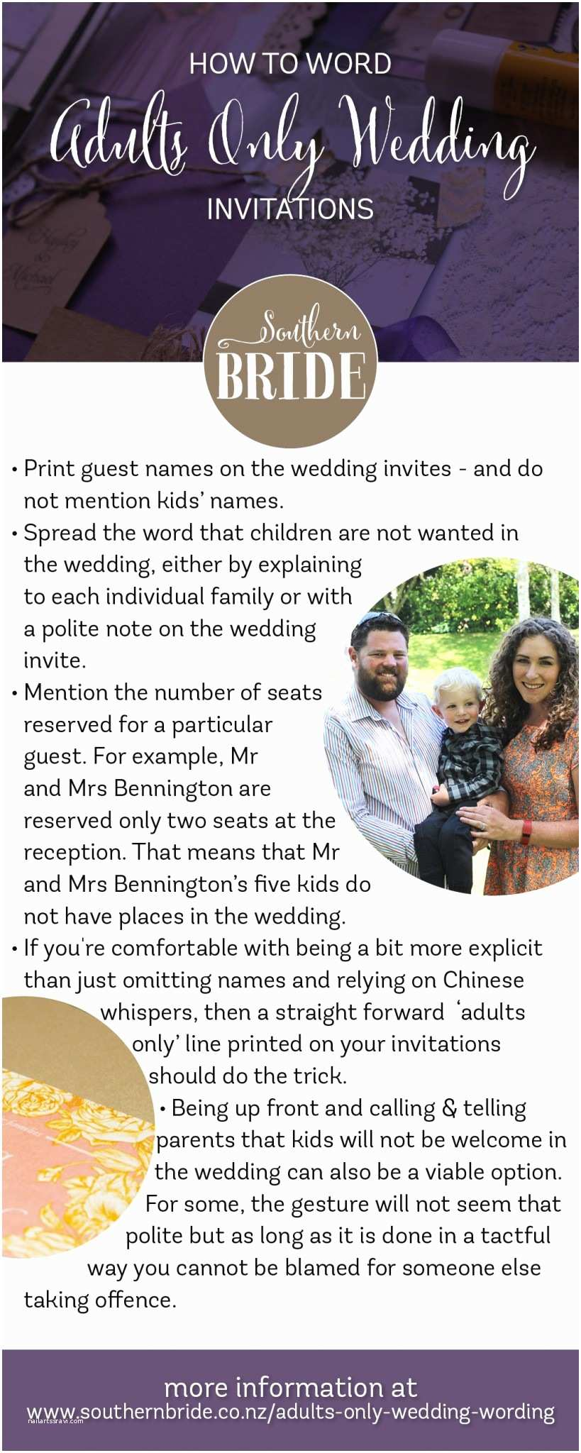 Adults Only Wedding Invitation Wording How to Tell Guests You are Having An Adults Only Wedding