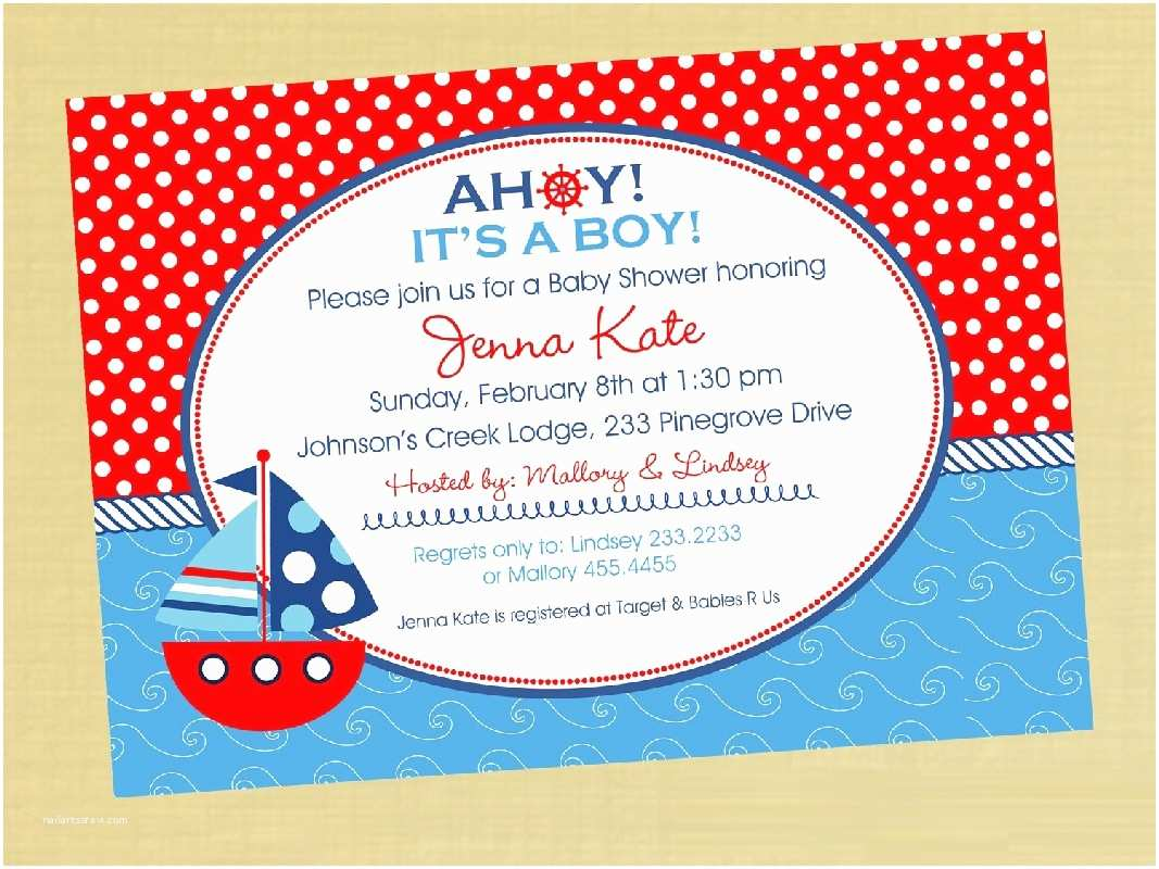 Affordable Baby Shower Invitations Nautical Baby Shower Invitations Baby Shower Decoration