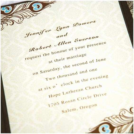 Affordable Pocket Wedding Invitations Affordable Peacock Wedding Invitations Acock Pocket