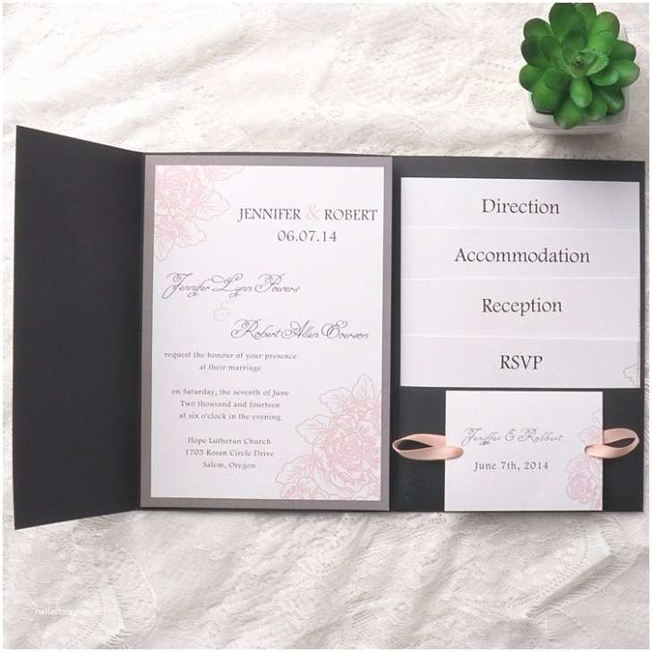 Affordable Pocket Wedding Invitations Affordable Pocket Wedding Invitations Invites at Elegant