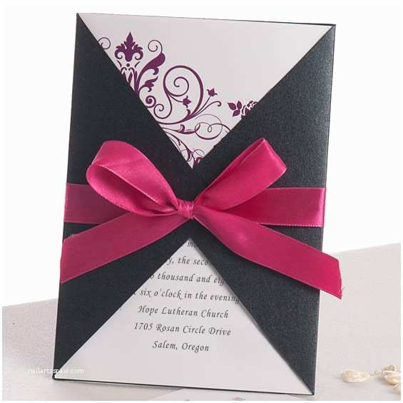 Affordable Pocket Wedding Invitations Cheap Pocket Wedding Invitations From