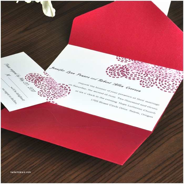 Affordable Pocket Wedding Invitations Pocket Wedding Invitations for A Simple Invitation
