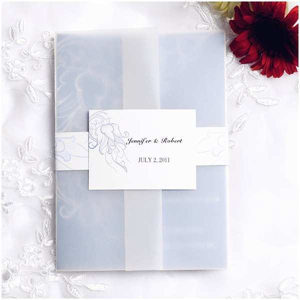 Affordable Pocket Wedding Invitations Vintage Powder Blue Pocket Wedding Invitation Cards